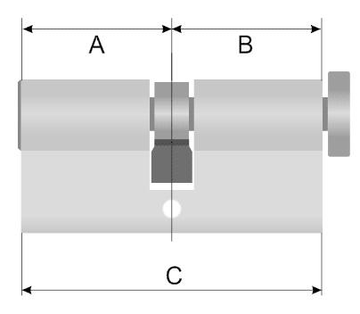 Цилиндровый механизм размеры